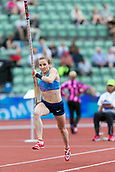 June 15th 2017, Bislett Stadion , Oslo, Norway; Diamond League Oslo Bislett Games;  Nicole Buchler of Switzerland competes in the ladies pole vault during the IAAF Diamond League held at the Bislett Stadium