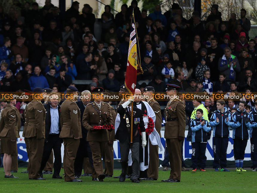 Football Clubs around the Country mark 100 years since the end of the Battle of the Somme during Bristol Rovers vs MK Dons, Sky Bet EFL League 1 Football at the Memorial Stadium on 19th November 2016