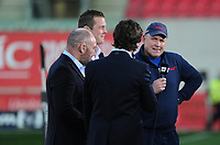 Scarlets' Head Coach Wayne Pivac during a interview with s4c<br /> <br /> Photographer Ashley Crowden/CameraSport<br /> <br /> Guinness PRO12 Round 19 - Scarlets v Benetton Treviso - Saturday 8th April 2017 - Parc y Scarlets - Llanelli, Wales<br /> <br /> World Copyright &copy; 2017 CameraSport. All rights reserved. 43 Linden Ave. Countesthorpe. Leicester. England. LE8 5PG - Tel: +44 (0) 116 277 4147 - admin@camerasport.com - www.camerasport.com