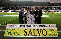 Pictured: Pablo Hernandez (L).<br /> Monday 16 September 2013<br /> Re: Barclay's Premier League, Swansea City FC v Liverpool at the Liberty Stadium, south Wales.