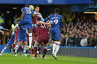 Kurt Zouma Of Chelsea FC heads wide during Chelsea vs West Ham United, Premier League Football at Stamford Bridge on 30th November 2019
