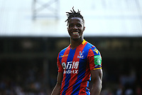 Wilfred Zaha of Crystal Palace celebrates after the final whistle during Crystal Palace vs Brighton & Hove Albion, Premier League Football at Selhurst Park on 14th April 2018