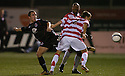 17/10/2006       Copyright Pic: James Stewart.File Name :sct_jspa03_hamilton_v_clyde.CLYDE'S DOUGIE IMRIE TACKLES TOM PARRATT... IMRIE WAS BOOED ALL NIGHT BY THE HAMILTON FANS....Payments to :.James Stewart Photo Agency 19 Carronlea Drive, Falkirk. FK2 8DN      Vat Reg No. 607 6932 25.Office     : +44 (0)1324 570906     .Mobile   : +44 (0)7721 416997.Fax         : +44 (0)1324 570906.E-mail  :  jim@jspa.co.uk.If you require further information then contact Jim Stewart on any of the numbers above.........