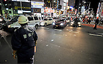 September 21, 2011, Tokyo, Japan - Japanese police direct the traffic around the Shibuya station in Tokyo, Japan, on September 21, 2011. (Photo by AFLO) [3620]