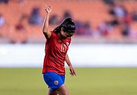 HOUSTON, TX - JANUARY 28: Shirley Cruz #10 of Costa Rica celebrates during a game between Costa Rica and Panama at BBVA Stadium on January 28, 2020 in Houston, Texas.