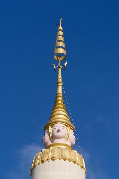 Phnom Penh, Cambodia. The stupa of Wat Botum (Botumwatey Pagoda).