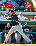 11 March 2009: New York Yankees' outfielder Austin Jackson in action during a Spring Training game against the Detroit Tigers at Joker Marchant Stadium in Lakeland, Florida. The Tigers defeated the Yankees 7-4 in the Grapefruit League matchup. Mandatory Photo Credit: Ed Wolfstein Photo