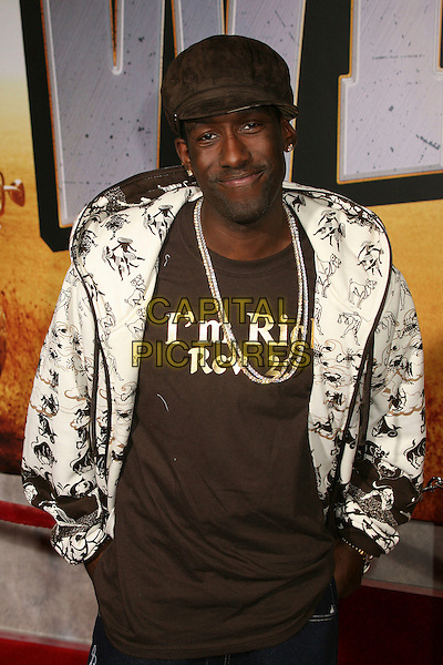 """SHAWN STOCKMAN .""""Wild Hogs"""" Los Angeles Premiere at the El Capitan Theatre, Hollywood, California, USA..February 27th, 2007.half length white jacket necklaces brown hat .CAP/ADM/BP.©Byron Purvis/AdMedia/Capital Pictures"""