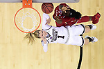 COLUMBUS, OH - MARCH 30: Arica Carter #11 of the Louisville Cardinals shoots over Blair Schaefer #1 of the Mississippi State Bulldogs during a semifinal game of the 2018 NCAA Division I Women's Basketball Final Four at Nationwide Arena in Columbus, Ohio. (Ben Solomon/NCAA Photos via Getty Images)