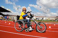 De Open Dag is hét evenement van het jaar voor de Johan Cruyff Foundation. Sportdag in het Olympisch stadion voor kinderen mét en zonder handicap. Handbiken