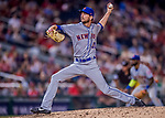 28 April 2017: New York Mets pitcher Jerry Blevins on the mound in the 8th inning against the Washington Nationals at Nationals Park in Washington, DC. The Mets defeated the Nationals 7-5 to take the first game of their 3-game weekend series. Mandatory Credit: Ed Wolfstein Photo *** RAW (NEF) Image File Available ***