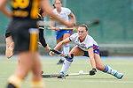 Mannheim, Germany, September 07: During the field hockey Bundesliga match between Mannheimer HC and Harvestehuder THC on September 7, 2019 at Am Neckarkanal in Mannheim, Germany. Final score 2-0. (Photo by Dirk Markgraf / www.265-images.com) *** Florencia Habif #18 of Mannheimer HC, Franzisca Hauke #26 of Harvestehuder THC