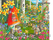 Ingrid, REALISTIC ANIMALS, REALISTISCHE TIERE, ANIMALES REALISTICOS, paintings+++++,USISAS13SC,#a#, EVERYDAY ,puzzles, fairy tale,hedgehock,squirrel,elfes