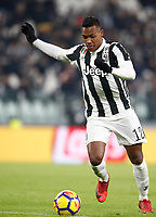 Calcio, Serie A: Juventus - Genoa, Torino, Allianz Stadium, 22 gennaio 2018. <br /> Juventus' Alex Sandro in action during the Italian Serie A football match between Juventus and Genoa at Torino's Allianz stadium, January 22, 2018.<br /> UPDATE IMAGES PRESS/Isabella Bonotto