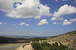 Israel, Upper Galilee, road 8933 in Wadi Namer