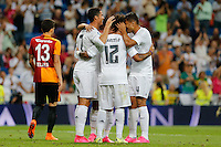 Players Real Madrid celebrating goal
