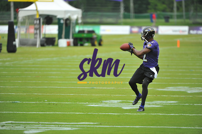 The Baltimore Ravens held their first full team practice of training camp at Under Armour Performance Center in Owings Mills on Thursday morning.