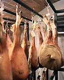 ITALY, Siena, meat hanged for curing at Castello Di Spannochia.