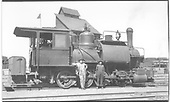 D&amp;RG 0-8-0T switcher #800 in Denver yards posing with her crew.  This engine was rebuilt from Class 75 2-8-0 #550.<br /> D&amp;RG  Denver, CO  Taken by Perry, Otto C. - 7/1918