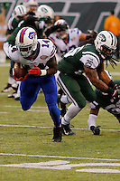 Buffalo Bills, Sammy Watkins, WR,  avoids the mark to score a touchdown against New York Jets during their NFL game at MetLife Stadium in New Jersey. 09.05.2014. VIEWpress