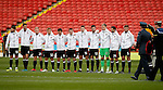 Sheffield Utd team line up for a minutes silence during the Emirates FA Cup Round One match at Bramall Lane Stadium, Sheffield. Picture date: November 6th, 2016. Pic Simon Bellis/Sportimage