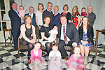 Baby Michael D. Mahony, pictured with his parents TJ & Siobhan Mahony who  was baptised at St. mary's Church , Listowel by Canon Declan O'Connor on Saturday last and afterwards at The Listowel Arms Hotel. Front : Sarah, Nicola & Maggie Mahony. Centre row : Treasa Lucey, Siobhan & Michael D Mahony, TJ Mahony & Mairead Mahony. Back : Mick & Rachael Mahony, Noel Mahony, Aoife, Conor & Hansie Lucey, Anne Marie & Annie Mahony & Nora & Tim Mahony.