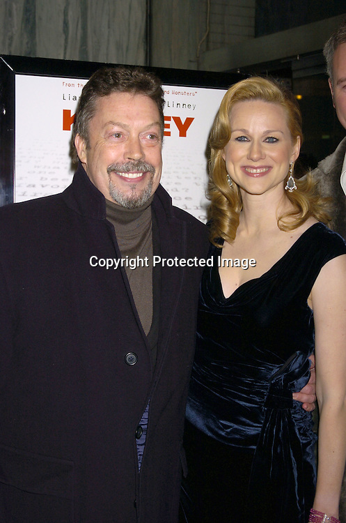 """Tim Curry and Laura Linney ..at the New York Premiere of """"Kinsey"""" on November 10, 2004 at the Beekman Theatre.                                            Photo by Robin Platzer, Twin Images"""