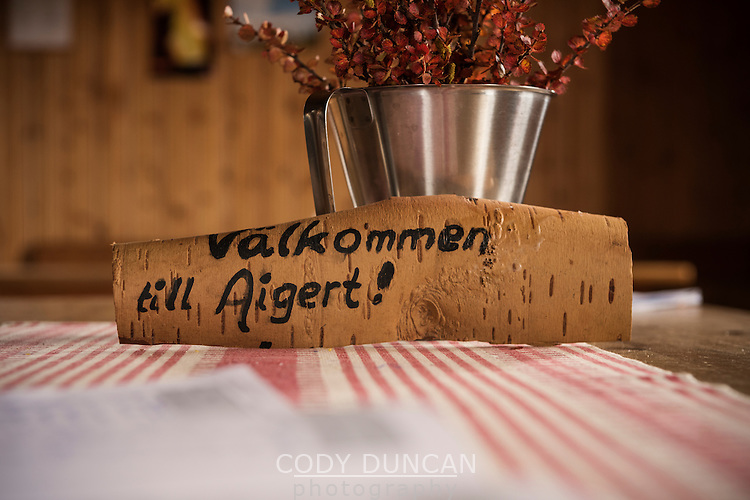 Welcome to Aigert, Aigert hut, Kungsleden trail, Lapland, Sweden