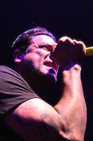 Lead singer Jason Cruz of Strung Out performing at Ritz Ybor on March 5, 2010 in Tampa, Florida as the opening band for Dropkick Murphys.  (Mike Janes/Four Seam Images)