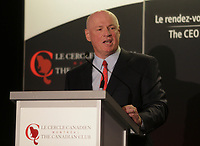 Daniel Fournier, Chairman &amp; CEO of Ivanhoe Cambridge inc.,  deliver a speech to the Canadian Club of Montreal ,Monday september 21, 2015.<br /> <br /> Photo : Agence Quebec Presse - Pierre Roussel