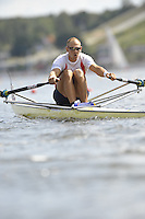 Poznan, POLAND,  NOR M1X,   Olaf TUFTE, competing in the heats of the men's single scull, on the first day of the, 2009 FISA World Rowing Championships. held on the Malta Rowing lake, Sunday 23/08/2009 [Mandatory Credit. Peter Spurrier/Intersport Images]