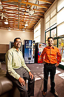 Mandeep Arora & Anant Agrawal - Cantaloupe Systems pictures: Executive portrait photography of Anant Agrawal and Mandeep Arora of Cantaloupe Systems by San Francisco corporate photographer Eric Millette