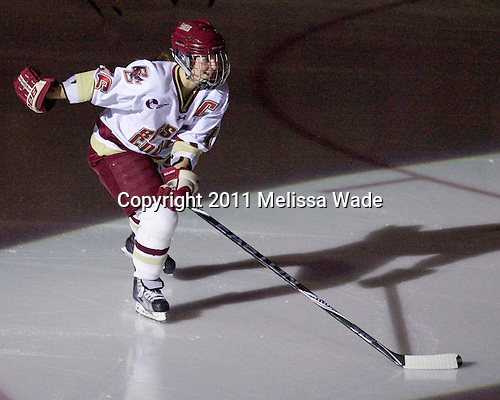 Kelli Stack (BC - 16) - The Boston College Eagles defeated the Harvard University Crimson 3-1 to win the 2011 Beanpot championship on Tuesday, February 15, 2011, at Conte Forum in Chestnut Hill, Massachusetts.