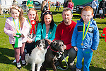 Barking friends<br /> --------------------<br /> 1st prise in the Child handling section of the dog show at the Maurice Collins vintage day last Sunday,went to Amy Quirke,Tralee,with her dog ROLO,pictured L-R Sophie Leen,Amy Quirke,Jacinta Bradley,Simon and Sean Scanlon with COCO the black dog.