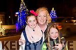 Aoife Doolan,Cliona Doolan, Aine Doolan, from killarney at the fireworks on Denny Street on Saturday night