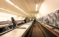 Nederland Rotterdam  2017.  Roltrap in de Maastunnel.  Foto Berlinda van Dam / Hollandse Hoogte