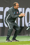 Antreiber, Frank Schmidt, Trainer (FC Heidenheim),<br /> <br /> GER, FC Heidenheim vs. Werder Bremen, Fussball, Bundesliga Religation, 2019/2020, 06.07.2020,<br /> <br /> DFB/DFL regulations prohibit any use of photographs as image sequences and/or quasi-video., <br /> <br /> <br /> Foto: EIBNER/Sascha Walther/Pool/gumzmedia/nordphoto