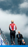 11 JUL 2009 - KITZBUHEL, AUT - Competitors head for transition - Jedermann Triathlon (PHOTO (C) NIGEL FARROW)