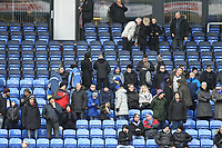 Oldham Athletic's fans wrapped up warm ahead of the Sky Bet League 1 match between Oldham Athletic and Rotherham United at Boundary Park, Oldham, England on 13 January 2018. Photo by Juel Miah / PRiME Media Images.