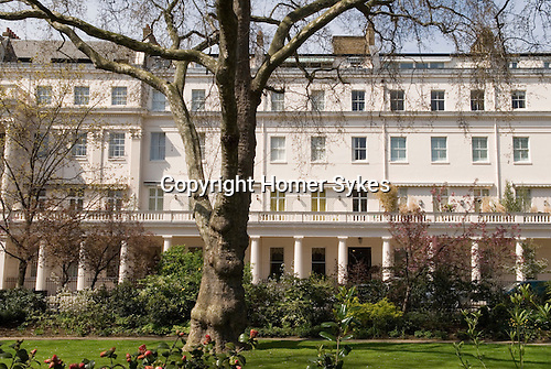 Eaton Square, private gardens.  Belgravia, City of Westminster, London SW1 England. 2006