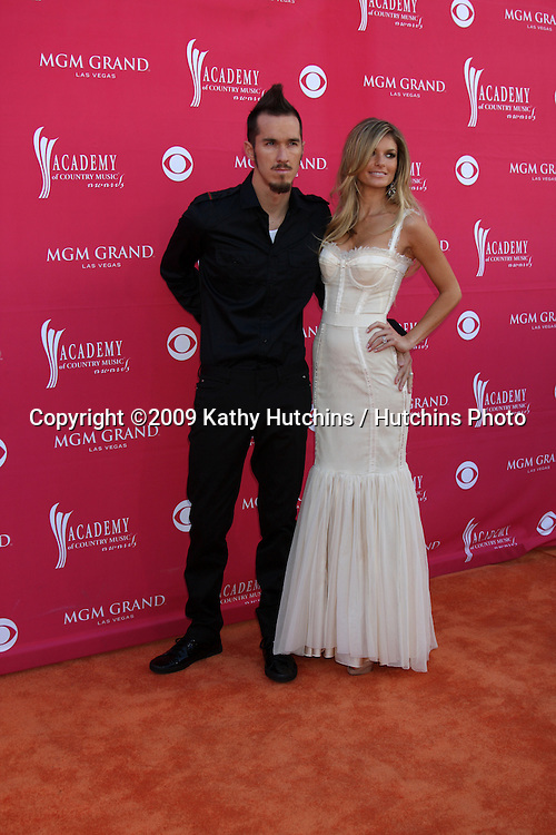 Marisa Miller & Date  arriving at the 44th Academy of Country Music Awards at the MGM Grand Arena in  Las Vegas, NV on April 5, 2009.©2009 Kathy Hutchins / Hutchins Photo....                .