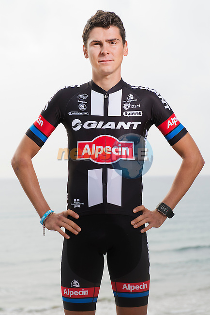 Warren Barguil Team Giant-Alpecin training camp held around Cambrils, Spain. 26 Janiuary 2015<br /> Photo: Team Giant-Alpecin/www.newsfile.ie