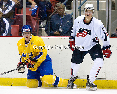 Jonathan Carlsson (Sweden/Brynas IF - Uppsala, Sweden), T.J. Galiardi (US/? - Calgary, AB) - Team Sweden defeated US Team White 4-3 (SO) the late game at the 1980 Rink in Lake Placid, New York, during the Summer Hockey Challenge on Tuesday, August 7, 2007.