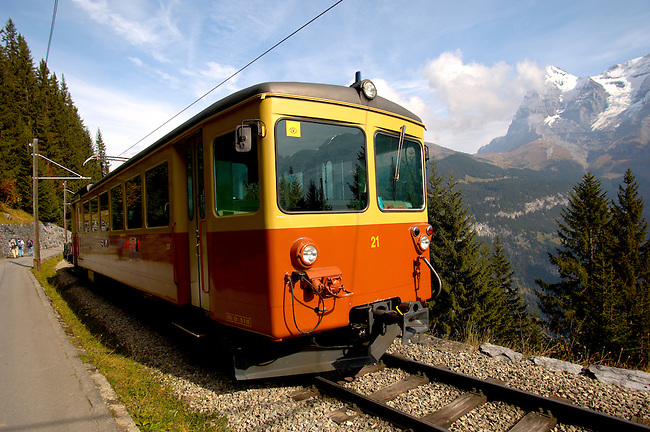 Murren Train - Bernese Oberland Alps - Switzerland