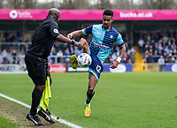 Paris Cowan-Hall of Wycombe Wanderers during the Sky Bet League 2 match between Wycombe Wanderers and Blackpool at Adams Park, High Wycombe, England on the 11th March 2017. Photo by Liam McAvoy.