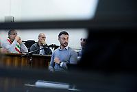 Roma, 16 Aprile 2019<br /> Francesco Tedesco.<br /> Processo Cucchi Bis, il contro interrogatorio del Carabiniere indagato e accusatore degli altri imputati.