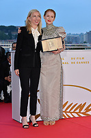CANNES, FRANCE. May 25, 2019: Jessica Hausner & Emily Beecham at the Palme d'Or Awards photocall at the 72nd Festival de Cannes.<br /> Picture: Paul Smith / Featureflash