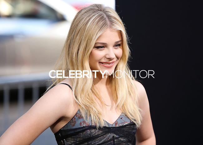 HOLLYWOOD, LOS ANGELES, CA, USA - AUGUST 20: Actress Chloe Grace Moretz arrives at the Los Angeles Premiere Of New Line Cinema's And Metro-Goldwyn-Mayer Pictures' 'If I Stay' held at the TCL Chinese Theatre on August 20, 2014 in Hollywood, Los Angeles, California, United States. (Photo by Xavier Collin/Celebrity Monitor)