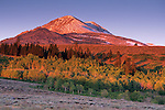 First light on Dunderberg Peak in early fall, Virginia Lakes area, near Lee Vining, CALIFORNIA