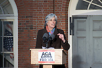 Save Affordable Care Act rally with MA Congressional delegation at Faneuil Hall Boston MA 1.15.17 Representative Katherine Clark at Save Affordable Care Act rally with MA Congressional delegation at Faneuil Hall Boston MA 1.15.17